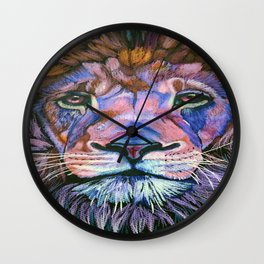 fierce Lion Wall Clock