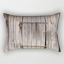 shed dilapidated cubby door Rectangular Pillow