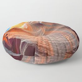 Geology Alive - Time Passage of Upper Antelope Canyon Floor Pillow