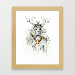 Diamond Horn Framed Art Print
