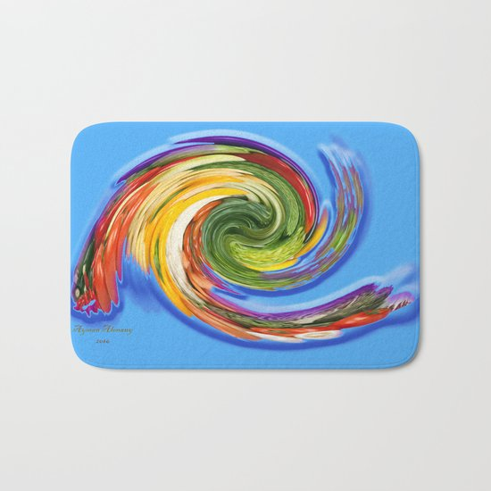 The whirl of life, W1.9C Bath Mat