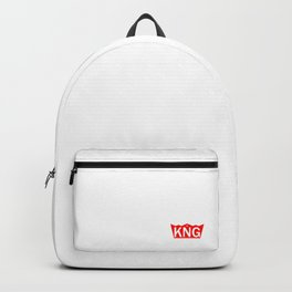 Red and White Crown Logo Backpack