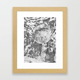 Moon Rabbit Framed Art Print