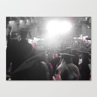 glee Canvas Prints featuring Graduation Glee (part 1) by Cassandra Evelyn