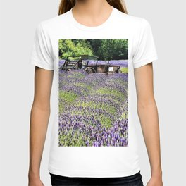 Lavender Fields and Abandoned Vehicle T-shirt