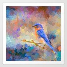 Bring On The Bluebirds Art Print
