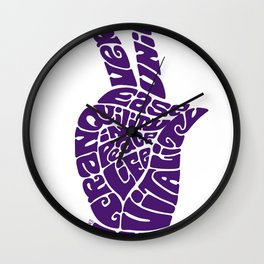 Life Force Hand in Bright Grape Wall Clock