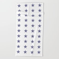 50 Blue Stars Beach Towel