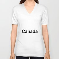 canada V-neck T-shirts featuring Canada by linguistic94