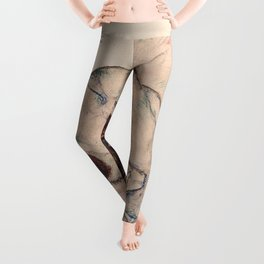KNEELING GIRL, RESTING ON BOTH ELBOWS - EGON SCHIELE Leggings