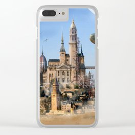 Desert City Clear iPhone Case