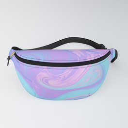 Blue Purple Liquid Marble Fanny Pack