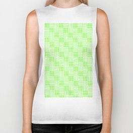 Interpretive Weaving (Spring Shoots) Biker Tank