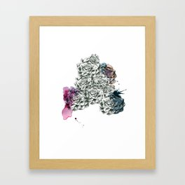 Fat Flower/Triangle Framed Art Print