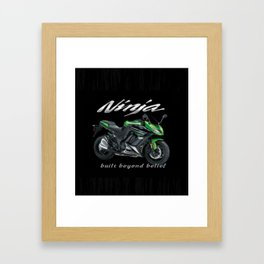 Ninja Accessories-Kawasaki Framed Art Print