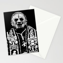 You Taste Like Death Pope Stationery Cards