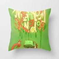 yoshi Throw Pillows featuring Yo Yoshi! by Krissy Diggs