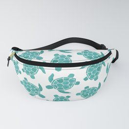 Save The Turtles in Teal Fanny Pack