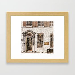SOLICITORS, Kings Parade, Cambridge, UK Framed Art Print
