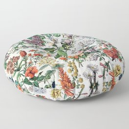 Adolphe Millot - Fleurs C - French vintage poster Floor Pillow