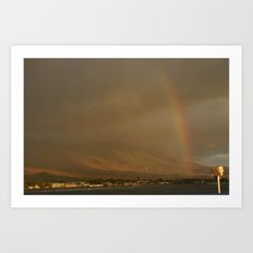 Rainbow in Hawaii Art Print