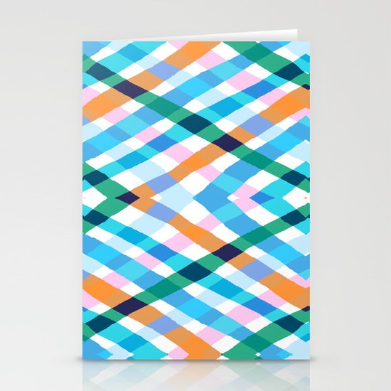 The rustic link based on tenun ikat Stationery Cards