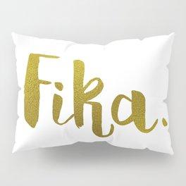 Golden fika Pillow Sham