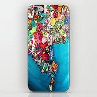 colombia iPhone & iPod Skins featuring Colombia Verde by MikAnsart