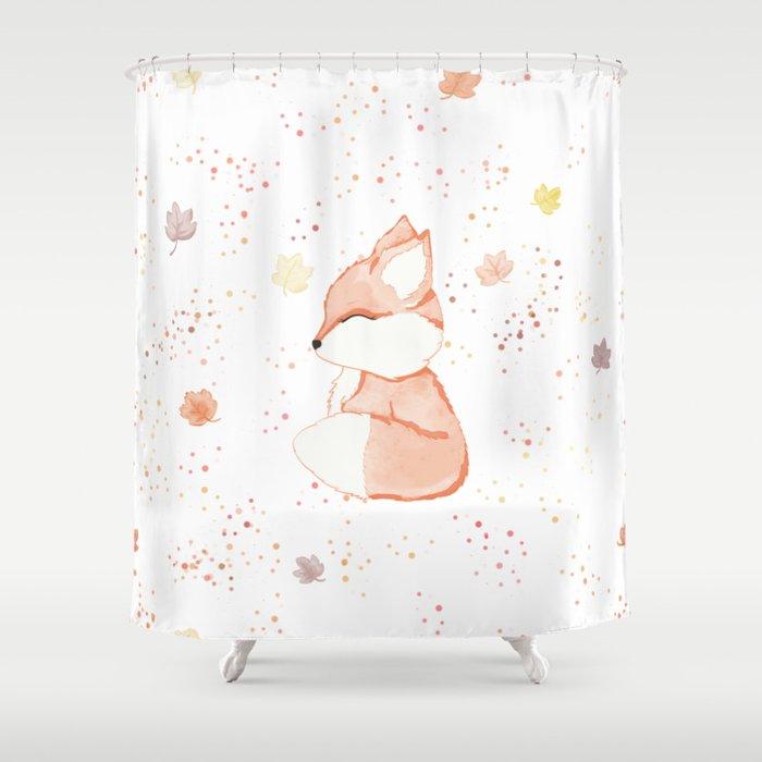 Fall Fox Shower Curtain