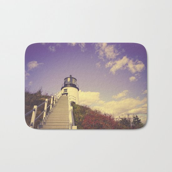 Maine Coast Lighthouse Bath Mat