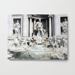 Palazzo Poli and the Trevi Fountain, Rome, Italy Metal Print