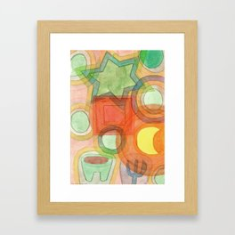 Various Things lit by the Moon Framed Art Print