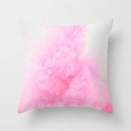 Pastel pink smoke Throw Pillow