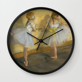 "Edgar Degas ""Dancers Practicing at the Barre"" Wall Clock"