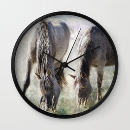 Grazing on Light and Freedom Wall Clock