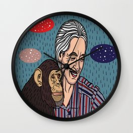 Jane Goodall Wall Clock