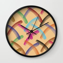 Colourful patterns Wall Clock