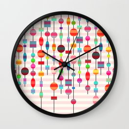 Colorful pearls Wall Clock