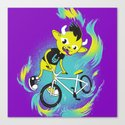 Monster Pixie Riding a Fixie by ivejustquitsmoking