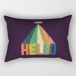 Hello I come in peace Rectangular Pillow