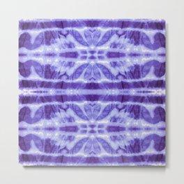 Tie Dye Twos Violet Hues Metal Print