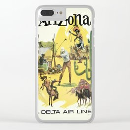 Vintage poster - Arizona Clear iPhone Case
