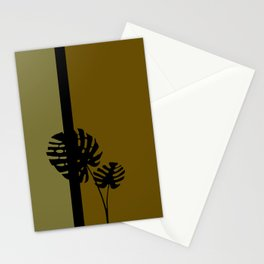 """Minimal retro tiki monstera"" Stationery Cards"