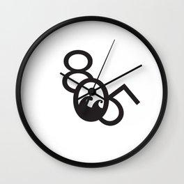 805 Wave Wall Clock