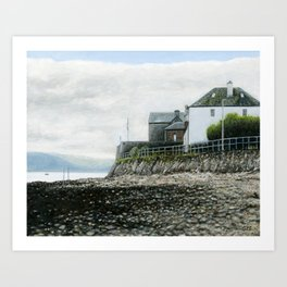 Low Tide, Inveraray, Scotland Art Print