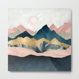 Plush Peaks Metal Print
