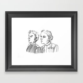 Frauen Framed Art Print