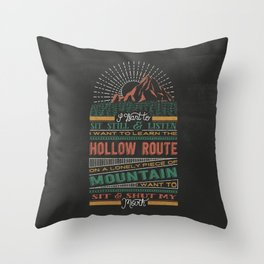 The Hollow Route Throw Pillow