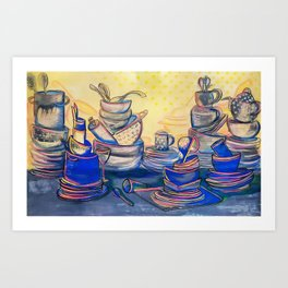 Ask the Dishes Art Print