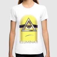 minions T-shirts featuring Minions Illuminati by Vincent Trinidad